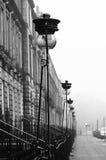 Foggy day in Edinburgh, Scotland. A foggy day in the New Town of Edinburgh, Scotland Royalty Free Stock Image