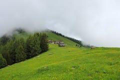 Foggy Day In Obermutten, Switzerland Royalty Free Stock Image