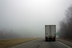 Foggy Day on the road Stock Photos