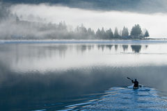A Foggy Day on Samish Lake Stock Images