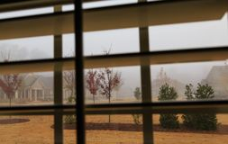 Foggy Day Through Shutters royalty free stock images