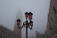 Foggy day on the St. Mark's square Royalty Free Stock Photo