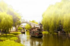 Foggy day in Xitang Town China Royalty Free Stock Image