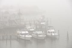 Foggy dock Royalty Free Stock Photography