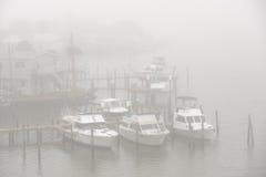 Foggy dock Royalty Free Stock Photography