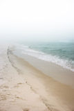 Foggy Dreamy Day at the Beach Stock Image