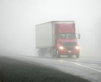 Foggy driving Royalty Free Stock Photo