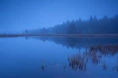 Foggy dusk on lake Royalty Free Stock Photography
