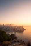 Foggy early morning, Benidorm Stock Photos