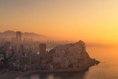 Foggy early morning, Costa Blanca Royalty Free Stock Photos