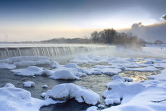 Foggy falls Royalty Free Stock Photography