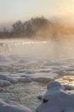 Foggy falls Stock Photo