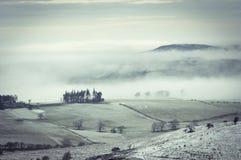 Foggy Farmland Stock Images