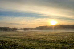 Foggy Field Royalty Free Stock Photo