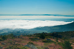 Foggy in Galicia Royalty Free Stock Images