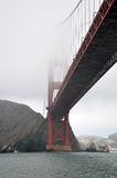 Foggy Golden Gate Bridge. Golden Gate Bridge on a foggy day in San Francisco, USA Stock Photo