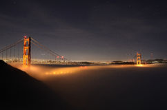 Foggy Golden Gate Bridge Stock Photo