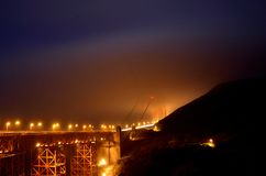 Foggy Golden Gate Bridge Stock Image