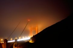 Foggy Golden Gate Bridge Royalty Free Stock Image