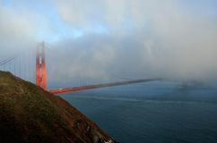 Foggy Golden Gate Bridge Royalty Free Stock Photography