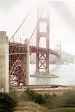 Foggy Golden Gate Bridge Tower Stock Image