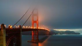 Foggy Golden Gate at sunset, San Francisco, California, USA. Stock Photo