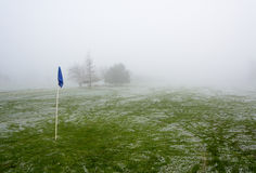 Foggy Golf Course Royalty Free Stock Photo