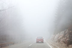 Foggy gray road royalty free stock images