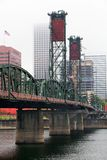 Foggy Hawthorne Bridge Stock Image