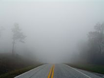 Foggy Highway Royalty Free Stock Photos