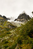 Foggy Hike in the Swiss Alps Stock Photos