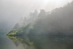 Foggy hill Stock Photo