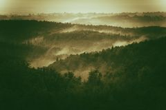 Foggy Hills of Poland royalty free stock photography