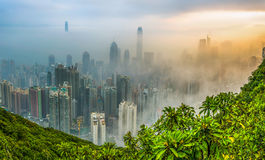 Foggy Hong Kong View Stock Images