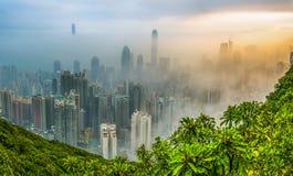 Foggy Hong Kong View Stock Images