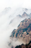 The foggy Huangshan Mountain Stock Photography