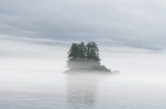 Foggy Island Stock Photography