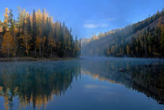 Foggy lake Royalty Free Stock Photos