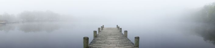 Foggy Lake. In Lakewood New Jersey royalty free stock images