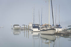 Foggy Lake Norman, North Carolina Royalty Free Stock Images
