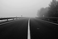 Foggy land Stock Photography