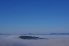Foggy landscape. Beautiful foggy landscape on the early morning Stock Images