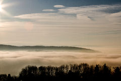 Foggy Landscape. A beautiful foggy landscape in the mountains Stock Photo