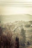 Foggy landscape in Esztergom. Hungary. Toned Stock Images