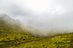 Foggy landscape in a Iceland Stock Photography