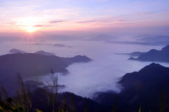 Foggy landscape. A foggy landscape in phucheefah chaingrai thailand Stock Photos