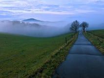 Foggy Landscape Siebengebirge. Germany Royalty Free Stock Image