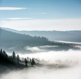 Foggy Landscape. Royalty Free Stock Images