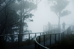 Foggy Lookout Royalty Free Stock Photography