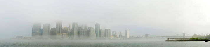 Foggy Lower Manhattan Royalty Free Stock Photos